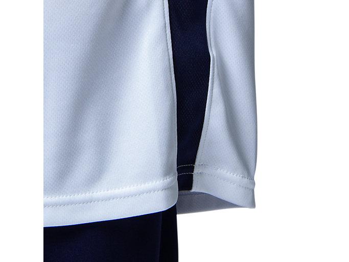 Alternative image view of Jr.ゲームシャツ, ホワイトxピーコート