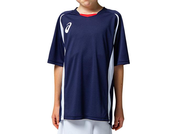 Front Top view of Jr.ゲームシャツ, ピーコート