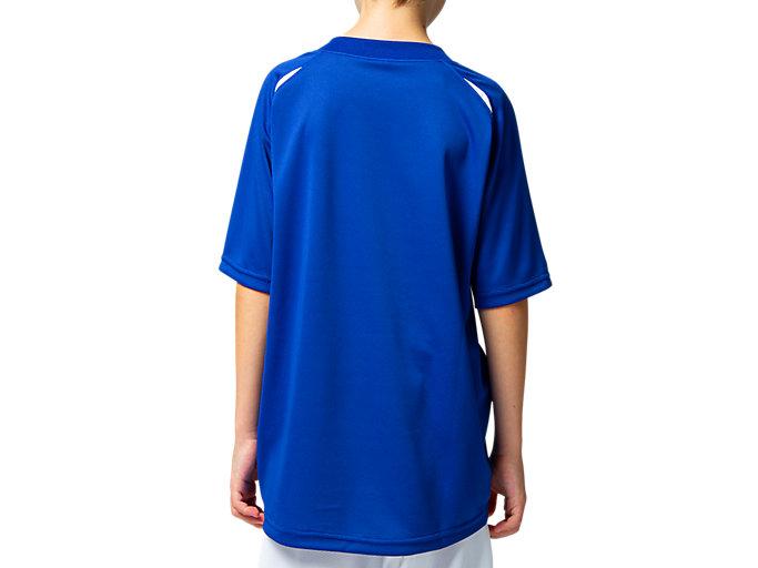 Back view of Jr.ゲームシャツ, アシックスブルー