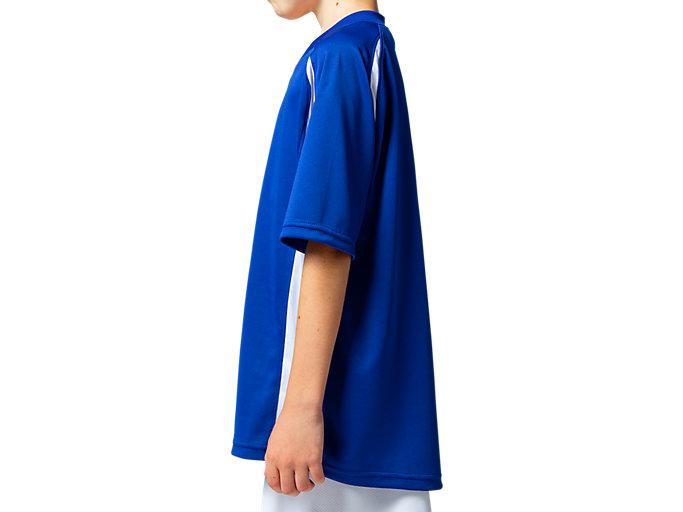 Side view of Jr.ゲームシャツ, アシックスブルー