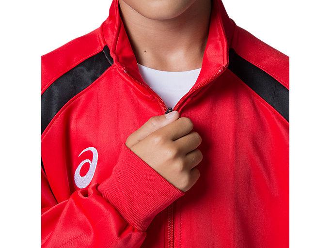 Alternative image view of Jr.トレーニングジャケット, クラシックレッド