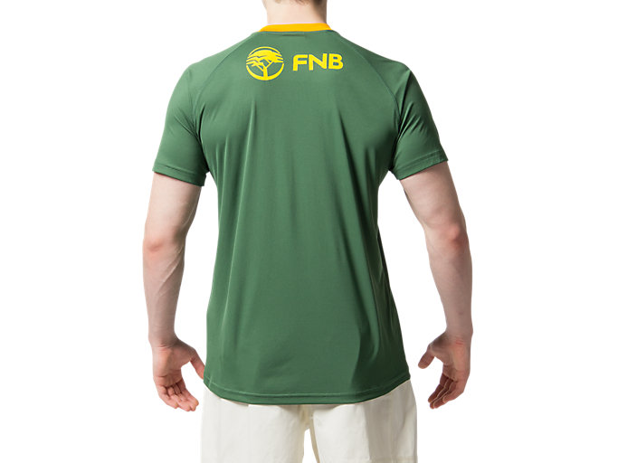 Back view of SB HOME SS FAN TEE M, OAK GREEN
