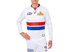 W BULLDOGS REPLICA CLASH GUERNSEY L/S
