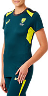 CRICKET AUSTRALIA REPLICA TRAINING TEE (W)