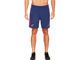 Front Top view of SB TRAINING SHORT REPLICA, INDIGO BLUE