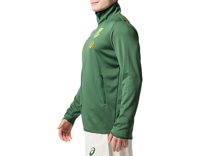 Side view of SB PRESENTATION JACKET REPLICA, OAK GREEN