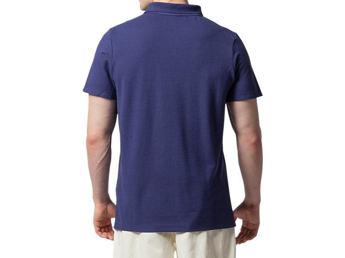 Back view of スプリングボクスポロシャツ, IDブルー