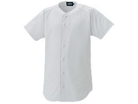 <NEOREVIVE>Jr.プラクティスユニフォームシャツ(フルオープン), ホワイト