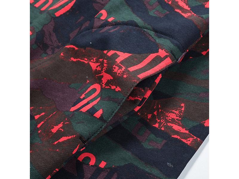 Printed Hoodie FIERY RED 13 Z