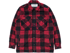 FLANEL SHIRT, FIERY RED/PERFORMANCE BLACK