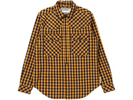 CHECK SHIRT, VIBRANT YELLOW/PEACOAT