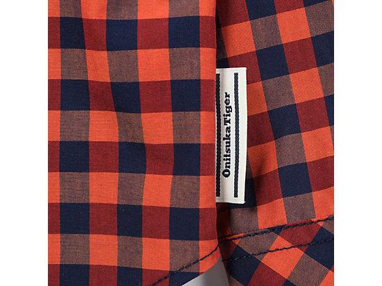 格仔恤衫 ORANGE/NAVY