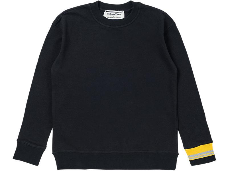CREW NECK SWEATER PERFORMANCE BLACK 1 FT