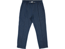 Front Top view of DENIM PANT, INDIGO BLUE