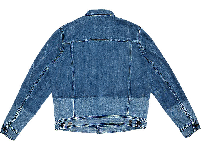 Back view of DENIM JACKET, INDIGO BLUE