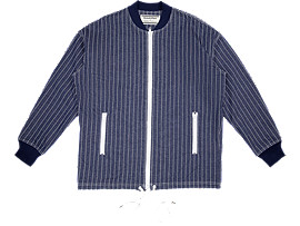 Front Top view of ZIP UP BOMBER, PEACOAT