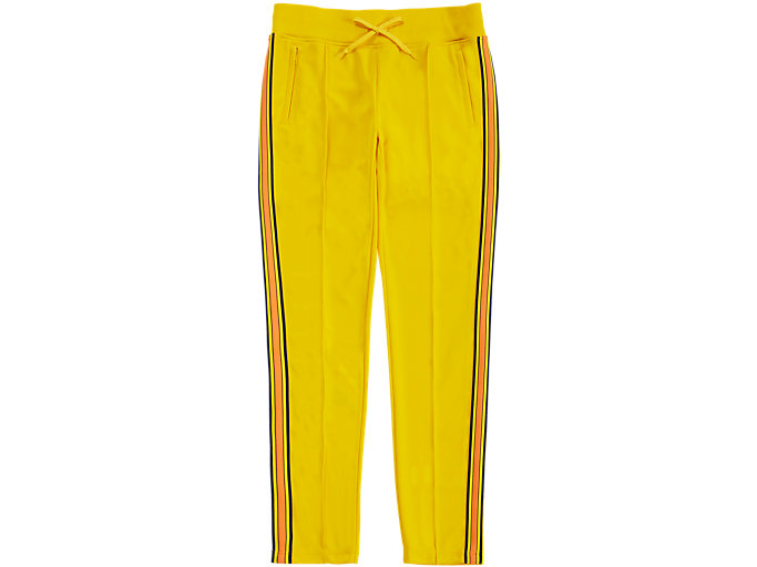 Front Top view of TRACK PANT, TAI-CHI YELLOW