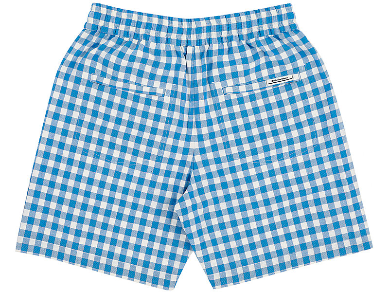 CHECK SHORT BLUE 5 BK