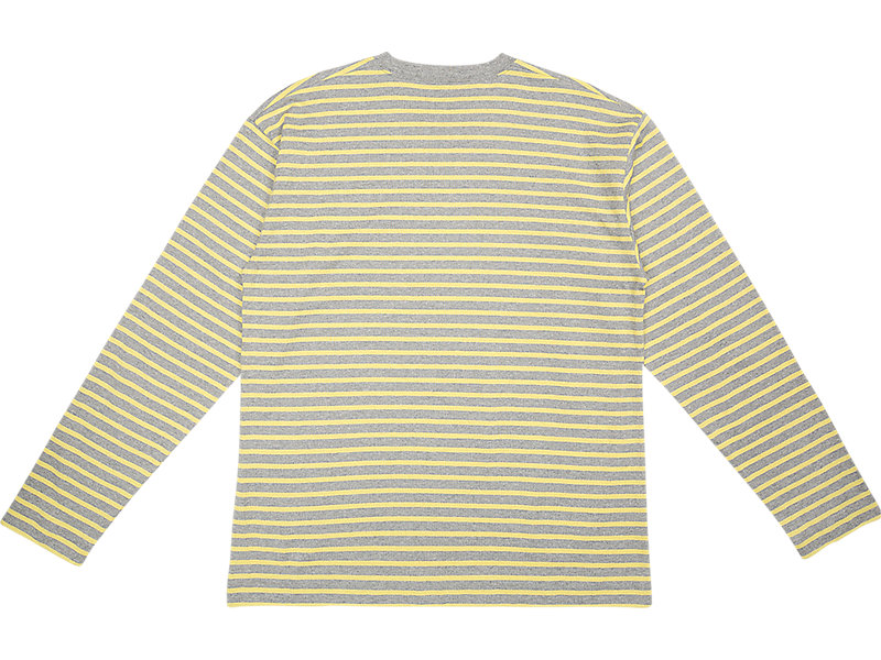 LS STRIPED TEE STONE GREY/YELLOW 5 BK