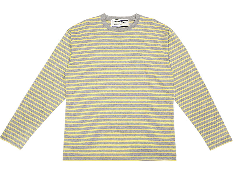 LS STRIPED TEE STONE GREY/YELLOW 1 FT