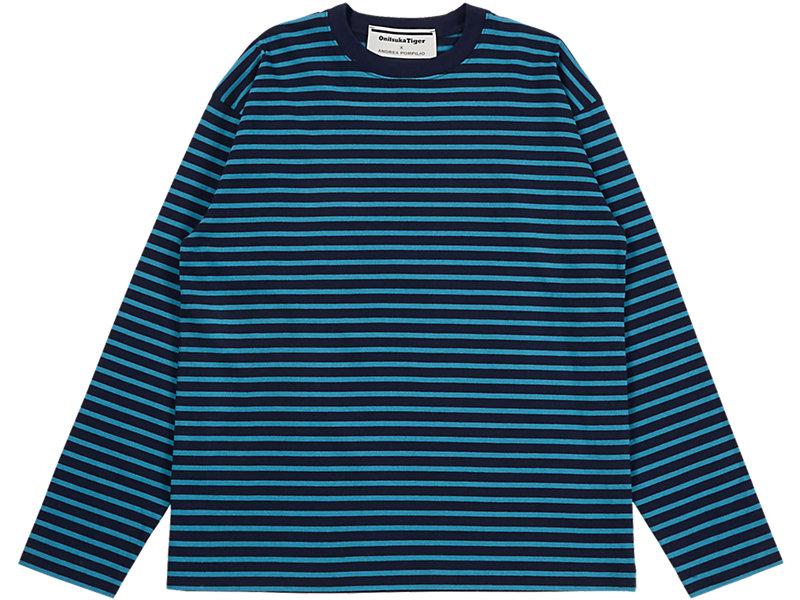 LS STRIPED TEE NAVY/BLUE 1 FT