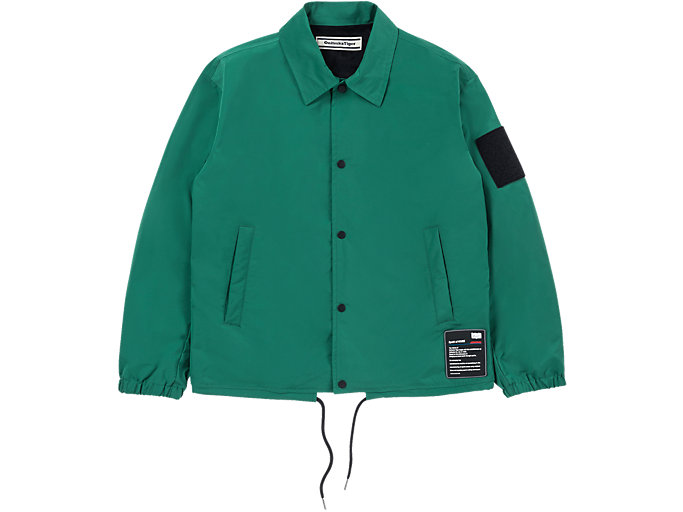 Front Top view of BLOUSON, GREEN