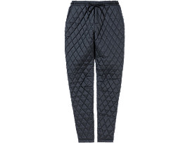 Front Top view of QUILTED PANT, PERFORMANCE BLACK