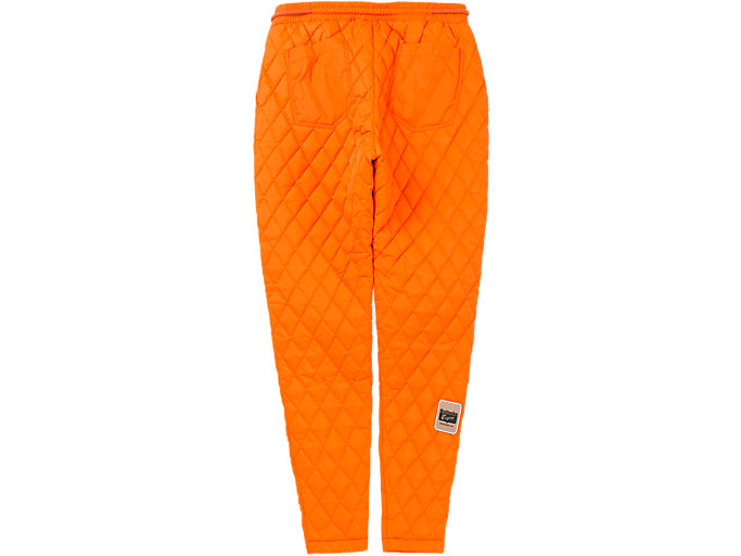 Back view of QUILTED PANT, SHOCKING ORANGE