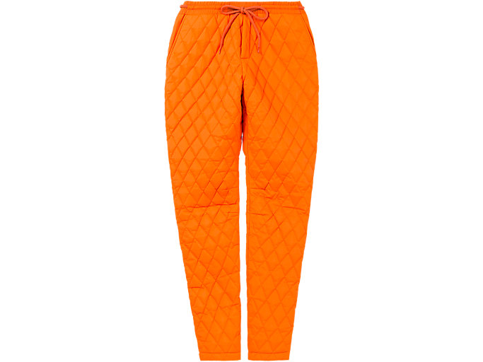 Front Top view of QUILTED PANT, SHOCKING ORANGE