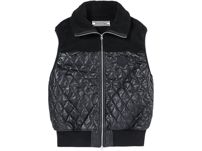 Front Top view of PADDED VEST, PERFORMANCE BLACK
