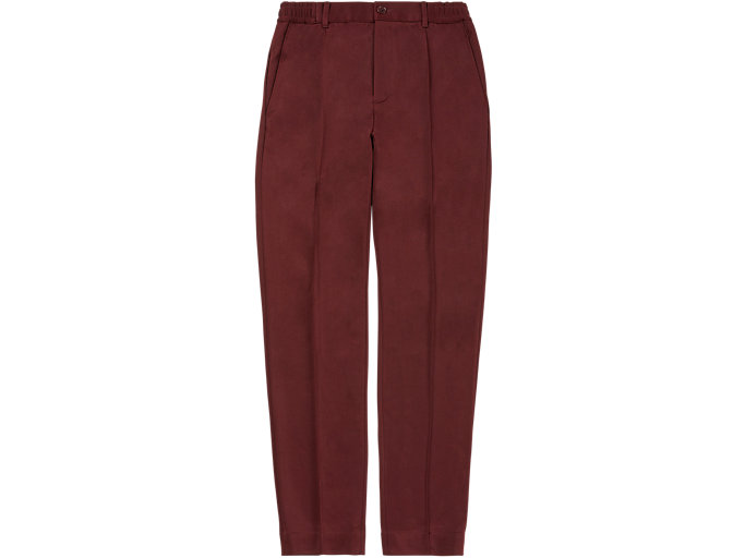 Front Top view of PANT, BEET RED