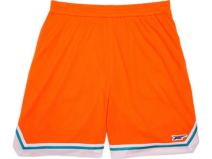 Front Top view of Shorts, SHOCKING ORANGE