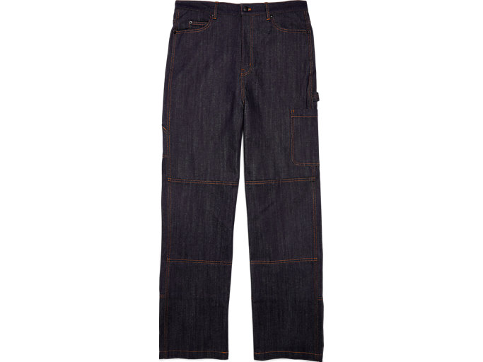 Front Top view of Pantalon Cargo Denim, PEACOAT