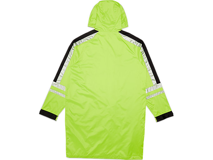 Back view of Coat, SAFETY YELLOW