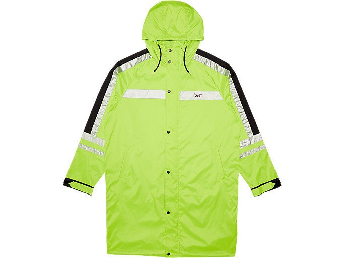 Front Top view of Coat, SAFETY YELLOW