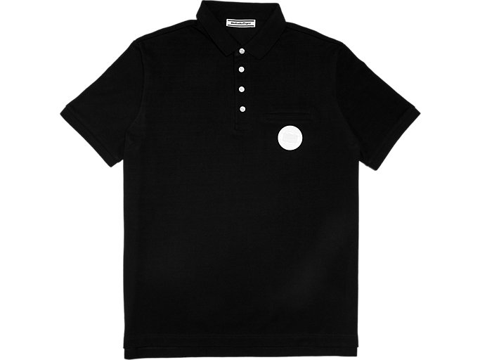 Front Top view of Polo, PERFORMANCE BLACK