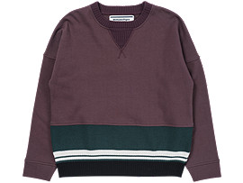 WS SWEAT KNIT TOP, BURGUNDY