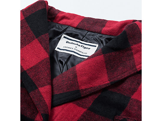WS FLANEL COAT RED/BLACK