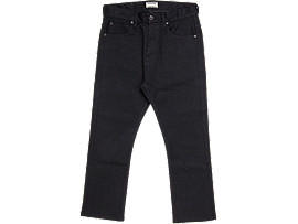 Front Top view of DENIM PANT, PERFORMANCE BLACK