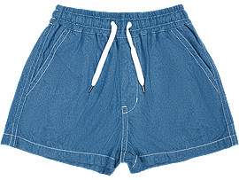 Front Top view of WS DENIM SHORT, DIRECTOIRE BLUE