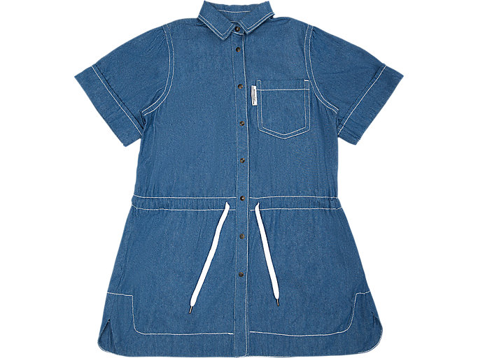 Front Top view of WS DENIM DRESS, DIRECTOIRE BLUE