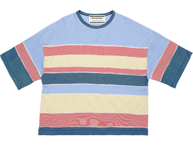 WS STRIPED TEE PALE BLUE/NAVY 1 FT
