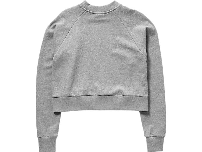 Back view of WS SWEAT TOP, STONE GREY