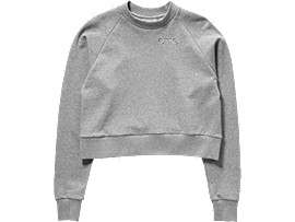 Front Top view of WS SWEAT TOP, STONE GREY