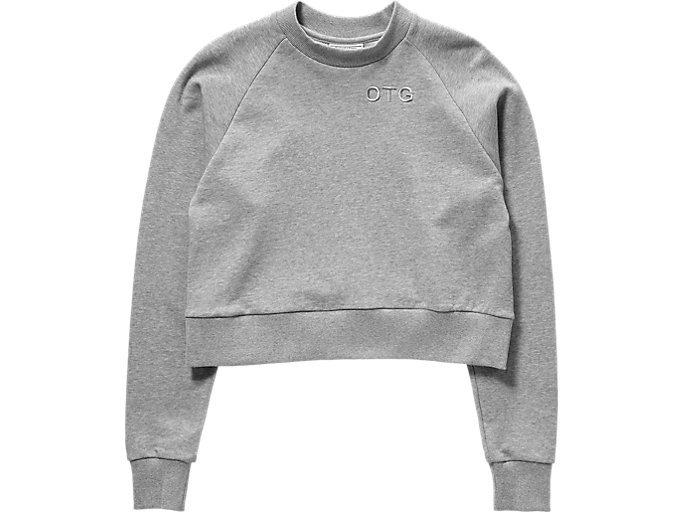 WS SWEAT TOP, STONE GREY