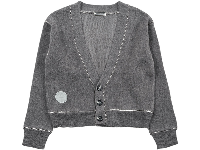 WS KNIT CARDIGAN MID GREY 1 FT