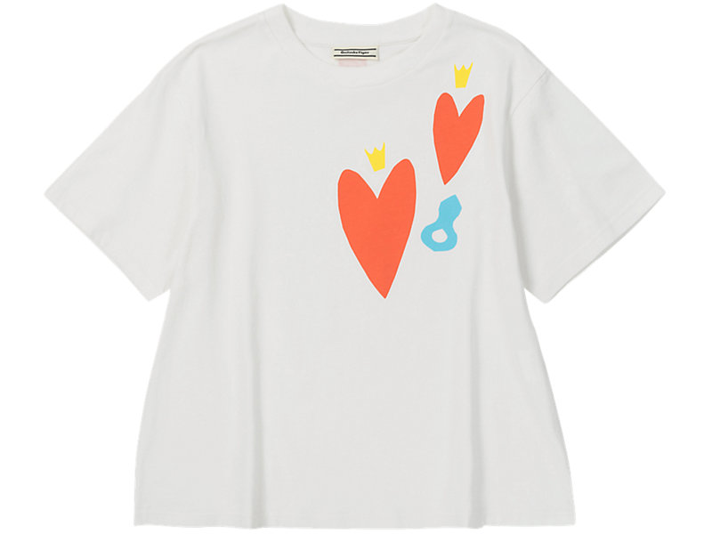 W Heart Graphic Tee REAL WHITE 1 FT