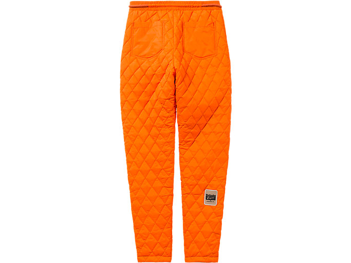 Back view of WS QUILTED PANT, SHOCKING ORANGE