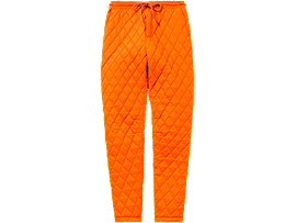 Front Top view of WS QUILTED PANT, SHOCKING ORANGE