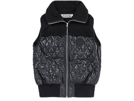 Front Top view of WS PADDED VEST, PERFORMANCE BLACK